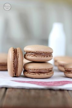 Chocolate Hazelnut Macarons | Butter Baking They look so fancy!!