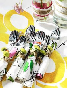 summer party table setting ideas