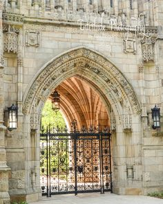 Architecture Photo:  Beautiful arch gate and stone building at YALE UNIVERSITY.  New Haven, CT  Choose size...8x10, 11x14, 16x20