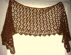 Steamed Chocolate Shoulderette shawl