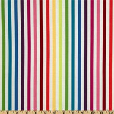 Michael Miller Stripes Stripe Couture Rainbow - Discount Designer Fabric - Fabric.com