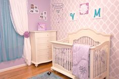 Classic Purple Nursery with Teal Accents