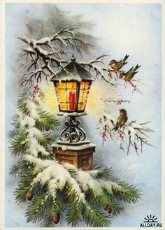 Christmas and New Year 3 - old postcards XX century | Рождество и Новый год 3 - Открытки ХХ века: