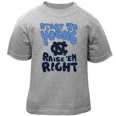 North Carolina Tar Heels (UNC) Infant Start 'Em Young T-Shirt - Ash -