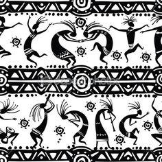 textura sin fisuras con figuras de baile — Ilustración de stock #33756717