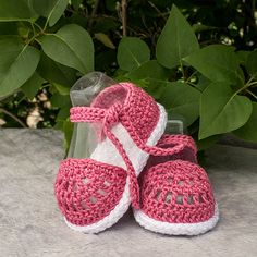 Crochet Sandals Crochet Baby Girl Sandals by DaisyNeedleWorks
