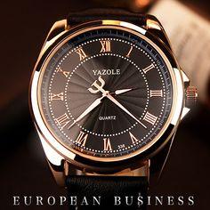 $5.31 (Buy here: https://alitems.com/g/1e8d114494ebda23ff8b16525dc3e8/?i=5&ulp=https%3A%2F%2Fwww.aliexpress.com%2Fitem%2F2016-Yazole-336-new-watch-Roman-scale-male-Luxury-brands-high-end-fashion-elite-business-quartz%2F32645499708.html ) 2016 Men Watch Top Brand Luxury Famous Wristwatches Male Clock Leather Wrist Watch Business Fashion Casual Dress Quartz Watches for just $5.31