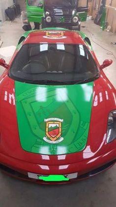 PICS: A Mayo GAA fan has done something incredible to his Ferrari Something To Do, Ferrari, Ireland, The Incredibles, Fan, Irish, Hand Fan, Fans