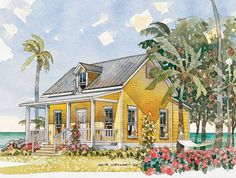 Bungalow House Plan with 484 Square Feet and 1 Bedroom from Dream Home Source | House Plan Code DHSW55420