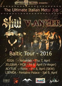 HARD N' HEAVY NEWS: SKW / V-ANGER - ANNOUNCE NEW BALTIC TOUR 2016