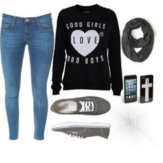 Image shared by Find images and videos about girl, love and fashion on We Heart It - the app to get lost in what you love. Junior Outfits, Cute Outfits, Tomboy, Hoodies, Sweatshirts, Bad Boys, Cool Girl, Winter Outfits, Graphic Sweatshirt