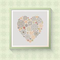 You make my heart go tika-tika-tok - Steampunk Modern Cross Stitch Pattern Valentine by CircleCross on Etsy https://www.etsy.com/listing/507386877/you-make-my-heart-go-tika-tika-tok