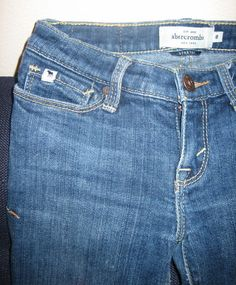 """SOLD --- Adorable Abercrombie Girl's Jeans  $2.98 on ebay  Brand: Abercrombie and Fitch, Abercrombie Kids  Size: 8  Style: Skinny/Straight Legs, Stretch - """"maddy""""  Material: 98% cotton, 2% elastic  Condition: good used condition - minimal signs of wear  - ends Nov. 10th -"""