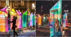 You Can Walk Through Giant Glowing Jewels At Houston's Brand New Street Exhibit