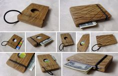 Wooden Wallet For Credit Cards, Wooden Card Holder, Wooden Purse