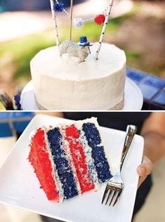 DIY Patriotic Layer Cake (+ 5 Amateur Tips For An Impressive Layered Cake) - Hostess with the Mostess®