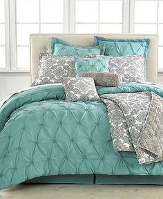 Jasmine Blue 10 Piece Queen Comforter Set - Bed in a Bag - Bed & Bath - Macy's