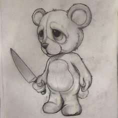 sketch teddy bear- sketch teddy bear sketch teddy bear - – Graffiti World Creepy Sketches, Scary Drawings, Dark Art Drawings, Tattoo Design Drawings, Halloween Drawings, Pencil Art Drawings, Art Drawings Sketches, Cartoon Drawings, Cartoon Art
