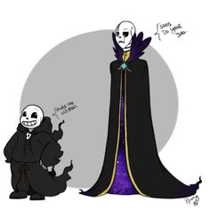 Make me old man.// I think this is the Reapertale AU? Maybe?<<Sans is obviously from the Reapertale AU but Gaster seems from Outertale...