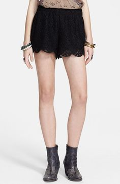 Free People Scalloped Lace Shorts available at #Nordstrom