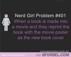Nerd girl problem- movie poster book covers