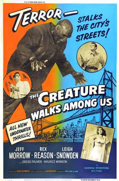 The Creature Walks among Us posters for sale online. Buy The Creature Walks among Us movie posters from Movie Poster Shop. We're your movie poster source for new releases and vintage movie posters. Classic Monster Movies, Classic Horror Movies, Classic Monsters, Scary Movies, Old Movies, Vintage Movies, Vintage Ads, Vintage Posters, Horror Movie Posters