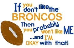 Like Me Broncos Applique - 4 Sizes! | What's New | Machine Embroidery Designs | SWAKembroidery.com Nobbie Neez Kids