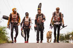 Arthur, a stray dog, adopts the Swedish Adventure Racing Team in Ecuador.