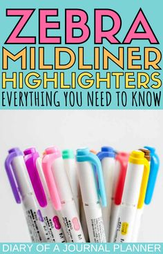 Read here for the ultimate review of the Zebra Mildliner Highlighters with swatches, smudge and bleed through tests! #pens #Bulletjournalsupplies #bulletjournalaccessories #markers #stationery Best Bullet Journal Pens, Dotted Bullet Journal, Bullet Journal Printables, Best Pens, Writing Pens, Bullet Journal Inspiration, Journal Quotes, Bujo