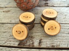 8 Handmade  Wood Buttons  Almond Tree Branch  by forestinspiration, $9.00
