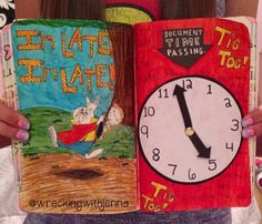 Wreck This Journal Inspiration - Document Time Passing