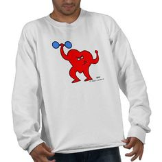 Exercise. Heart Fitness Motivation & Exercise Sweat Shirt for a husband or boyfriend who loves to exercise...or needs to. Whether he's heading to the gym or just a walk around the block, here's what he should be wearing.   $29.95 #heart #fitness #exercise #workout Look for moneysaving SALES codes daily at the top of each page at my shop--> http://www.zazzle.com/swisstoons?rf=238575599056059205=zBookmarklet