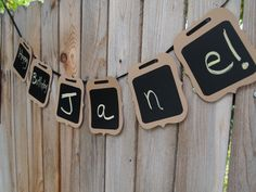 Chalkboard, BANNER, Wedding sign, Birthday Party, Reuseable with Chalk Marker, Photo prop, Kraft, handcrafted by TLGCRAFTS on Etsy. $19.50, via Etsy.