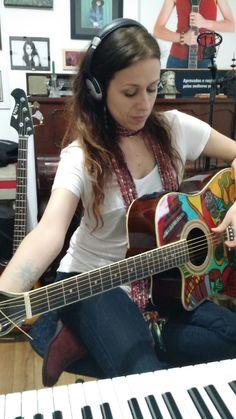 recording in my studio