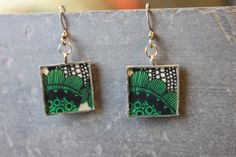 Floral resin earrings, by Cindy Larson Accessories