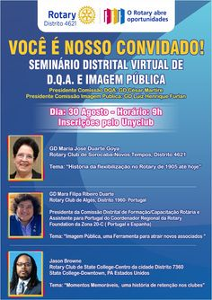 Magazine de Noticias Boanerges Gonçalves: Seminário Distrital Virtual de Imagem Pública e D.... Rotary Club, Advertising
