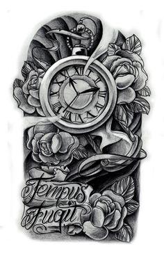 Idea for my Carpe Diem tattoo     Just with a broken clock