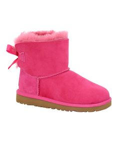 This Cerise Mini Bailey Bow Boot - Toddler is perfect! #zulilyfinds