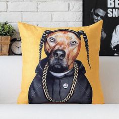 Snoop Doggy Dogg cartoon stars pillow best decorative pillows for sofa