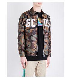 GCDS Camo-Print Shell Jacket. #gcds #cloth #coats & jackets