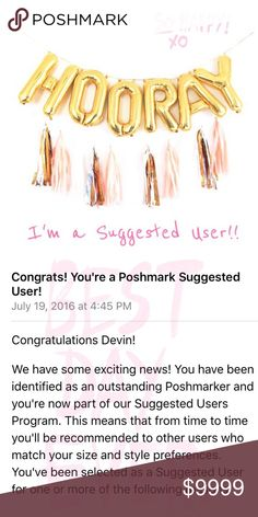 ✨ I'm a Suggested User ✨ ✨💖Hooray💖✨ I'm officially a Poshmark Suggested User! I'm so honored and grateful for all my amazing Poshmark friends and all my new && returning customers! 💟 J. Crew Jewelry Earrings