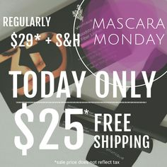 Flash sale, mascara Monday, younique