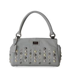 Lucerne Miche Classic shell - soft gray purse with a bit of bling - https://katiecousino.miche.com/Shop/Product/516