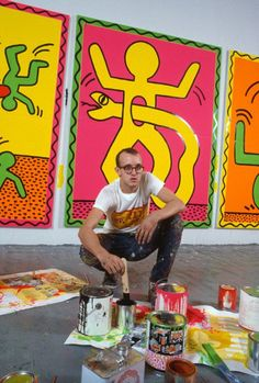 Keith Haring / Photographed in his Studio by Allan Tannenbaum / 1982