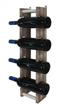 Stojak na wino wiszący RW-18 1x4 4 butelki - Seria RW-18 - Regały na wino Wine Rack, Storage, Home Decor, Woody Woodpecker, Wood, Purse Storage, Decoration Home, Room Decor, Larger