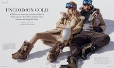 Fabienne Hagedorn and Ben Hill wears skiing style for Luxury Magazine Photoshoot