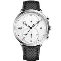 Cheap watch brand men, Buy Quality watch men directly from China watch men brand Suppliers: Relogio Masculino GUANQIN 2017 Mens Business Watches Top Brand Luxury Chronograph Watch Man Sport Quartz Wrist Watch Men Clock A Cheap Watches, Watches For Men, Watch Brands, Sport Watches, Luxury Watches, Fashion Watches, Fashion Men, Chronograph, Jewelry Watches