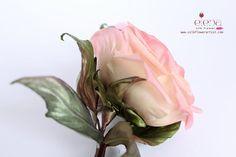 Silk Rose  corsage by SilkFlowerArt  We teach how to make silk flowers inspired by Nature   http://www.silkflowerartist.com/