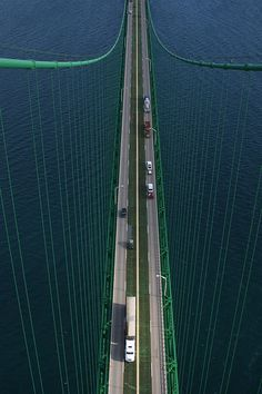 The Mackinac Bridge,  Michigan Another bucket list item...to see the bridge from this vantage point.