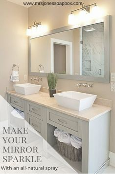 These inspiring bathroom mirror ideas will change the way you see yourself. #Bathroom Mirror Ideas #Rustic #Makeover #Cabinet #Frame #Ideas #DIY #Modern #Farmhouse